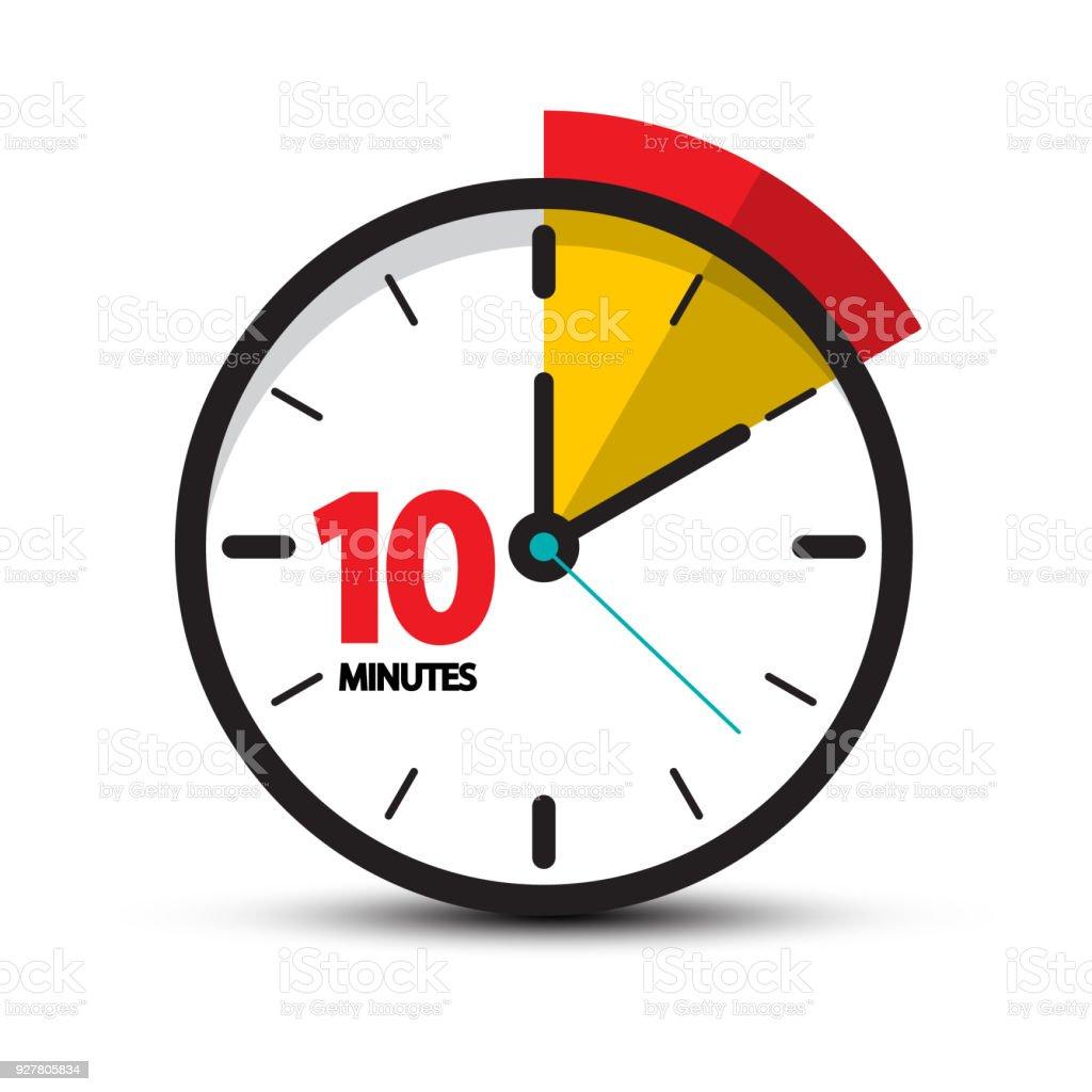 10 Minutes Symbol vector art illustration