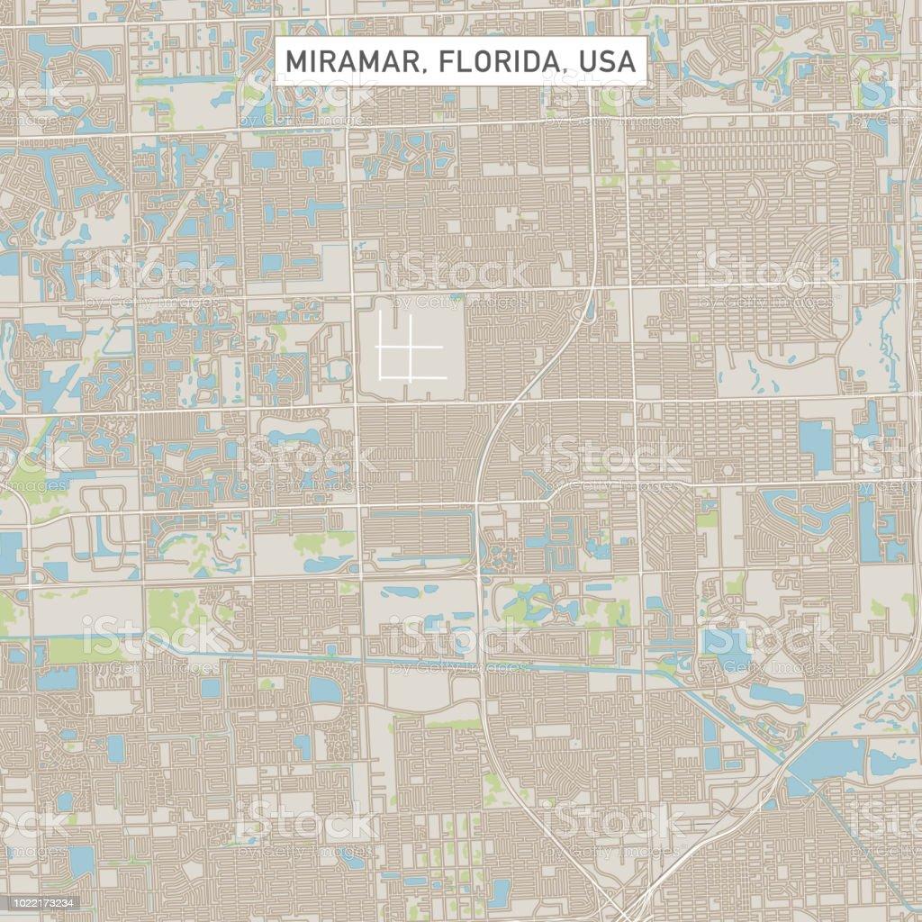 Map Of Miramar Florida.Miramar Florida Us City Street Map Stock Vector Art More Images Of