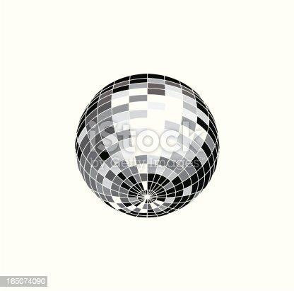 istock Mirror ball - VECTOR 165074090