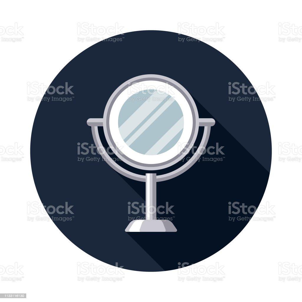 Mirror Hairdressing Icon vector art illustration