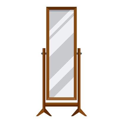 Mirror Icon on Transparent Background