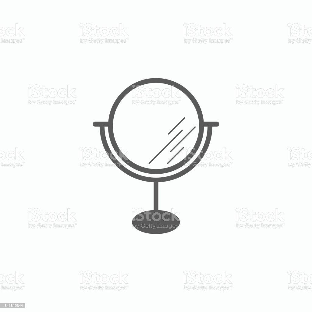 hand holding mirror. Mirror Icon Vector Art Illustration Hand Holding