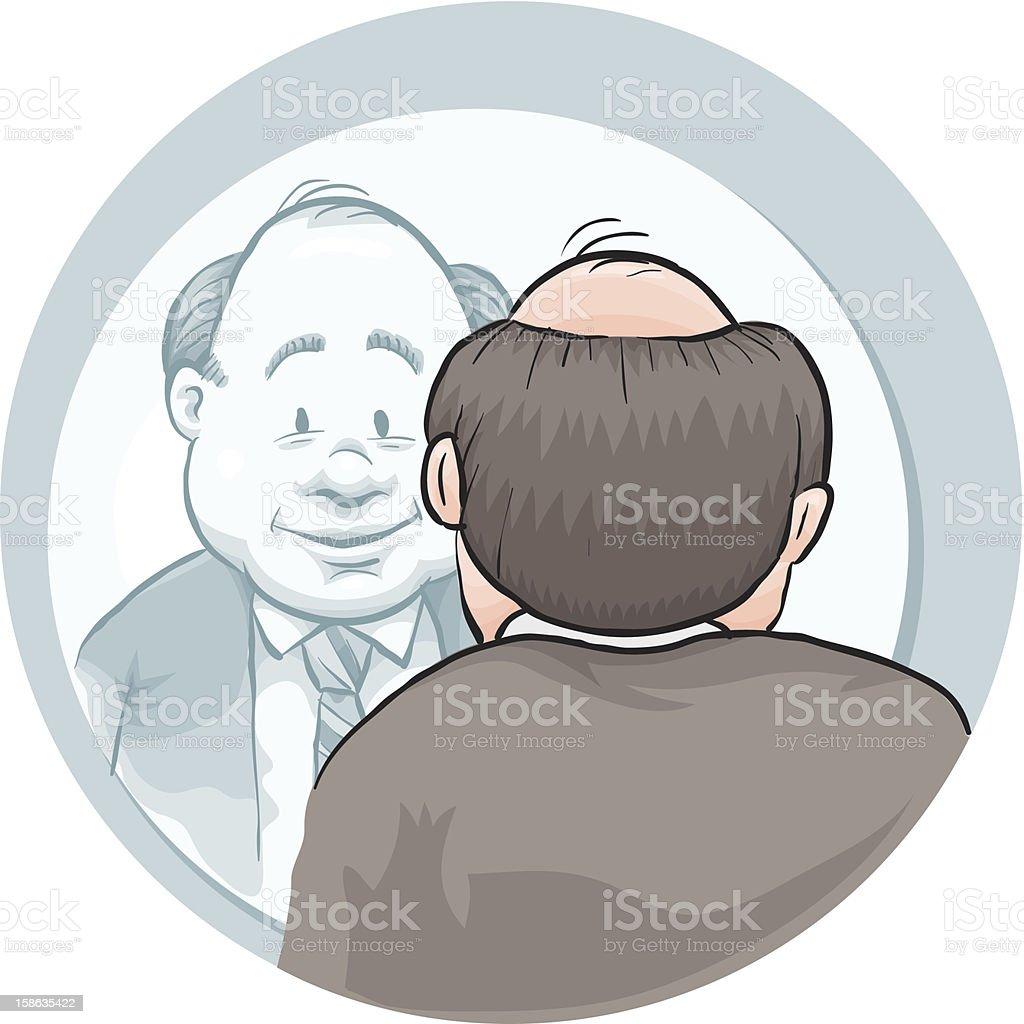 Mirror Man vector art illustration