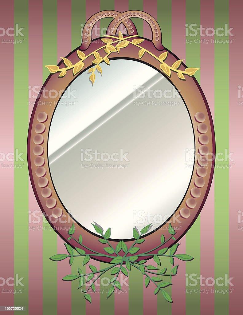 Mirror On The Wall royalty-free stock vector art