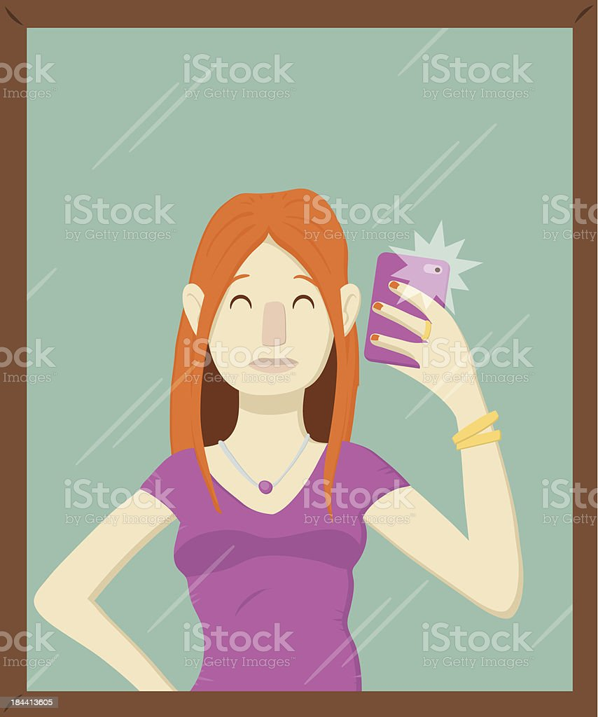 Mirror Selfie royalty-free mirror selfie stock vector art & more images of adult