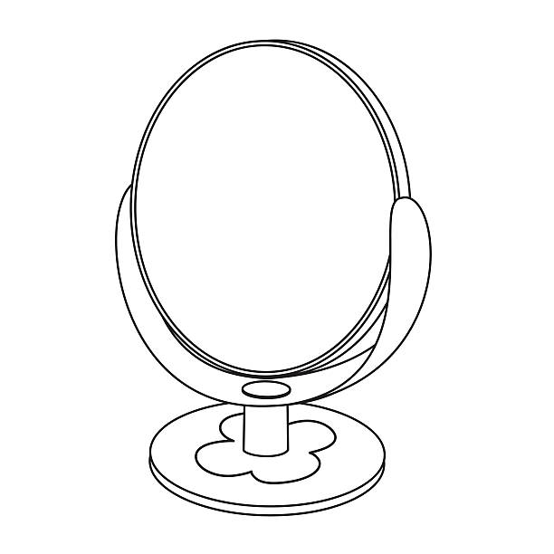 Mirror images coloring pages ~ Royalty Free Girl Looking In A Mirror Drawings Clip Art ...