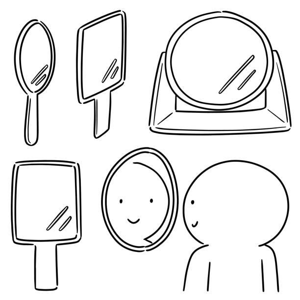 mirror – artystyczna grafika wektorowa
