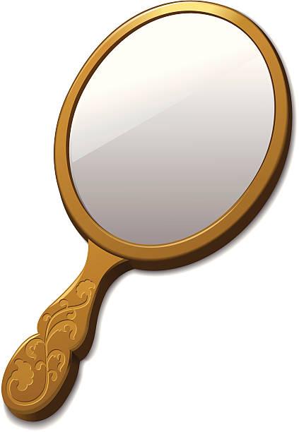stockillustraties, clipart, cartoons en iconen met mirror - handspiegel