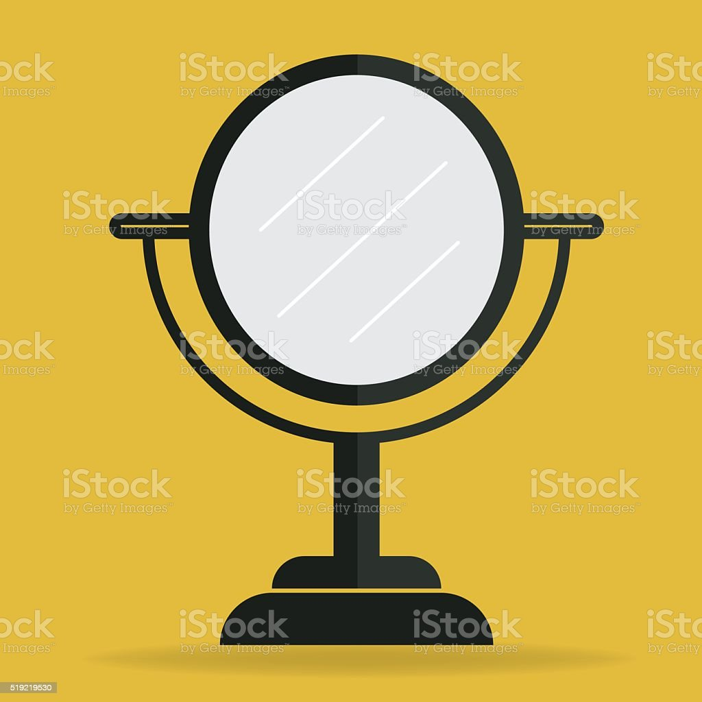 mirror vector art illustration