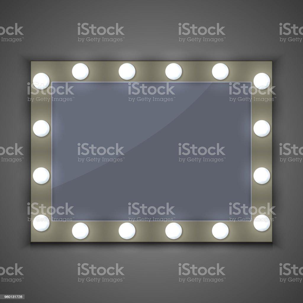 Spiegel Mit Licht Stock Vektor Art und mehr Bilder von Bilderrahmen ...