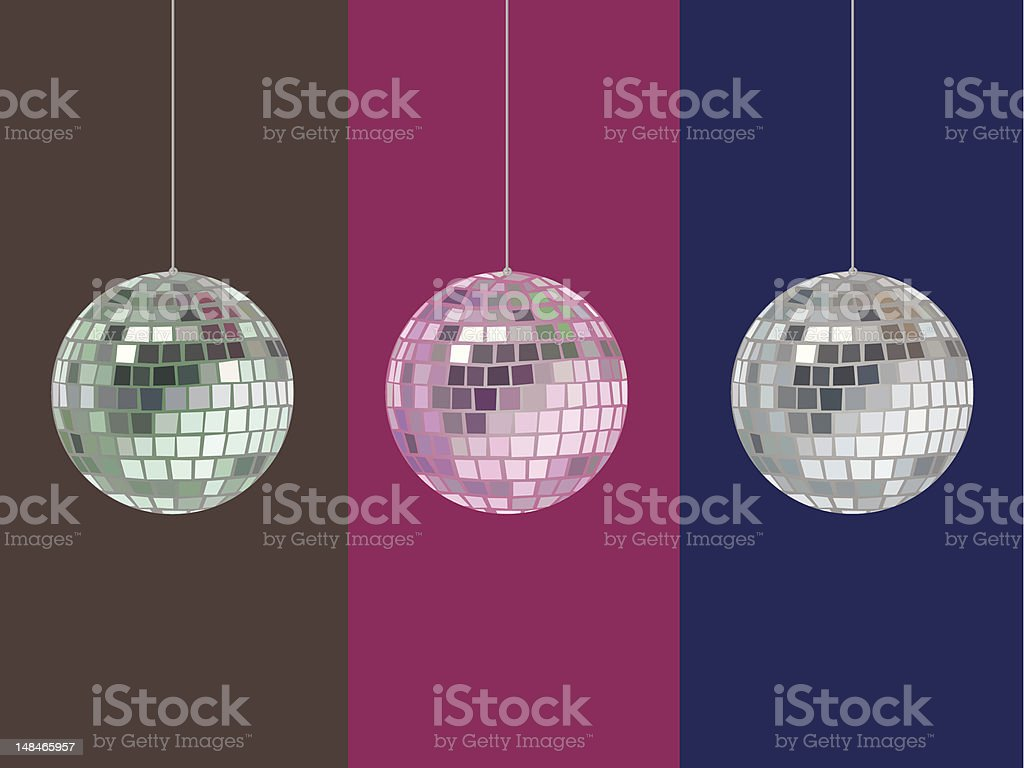 Mirrorball Vector with Hue Options vector art illustration