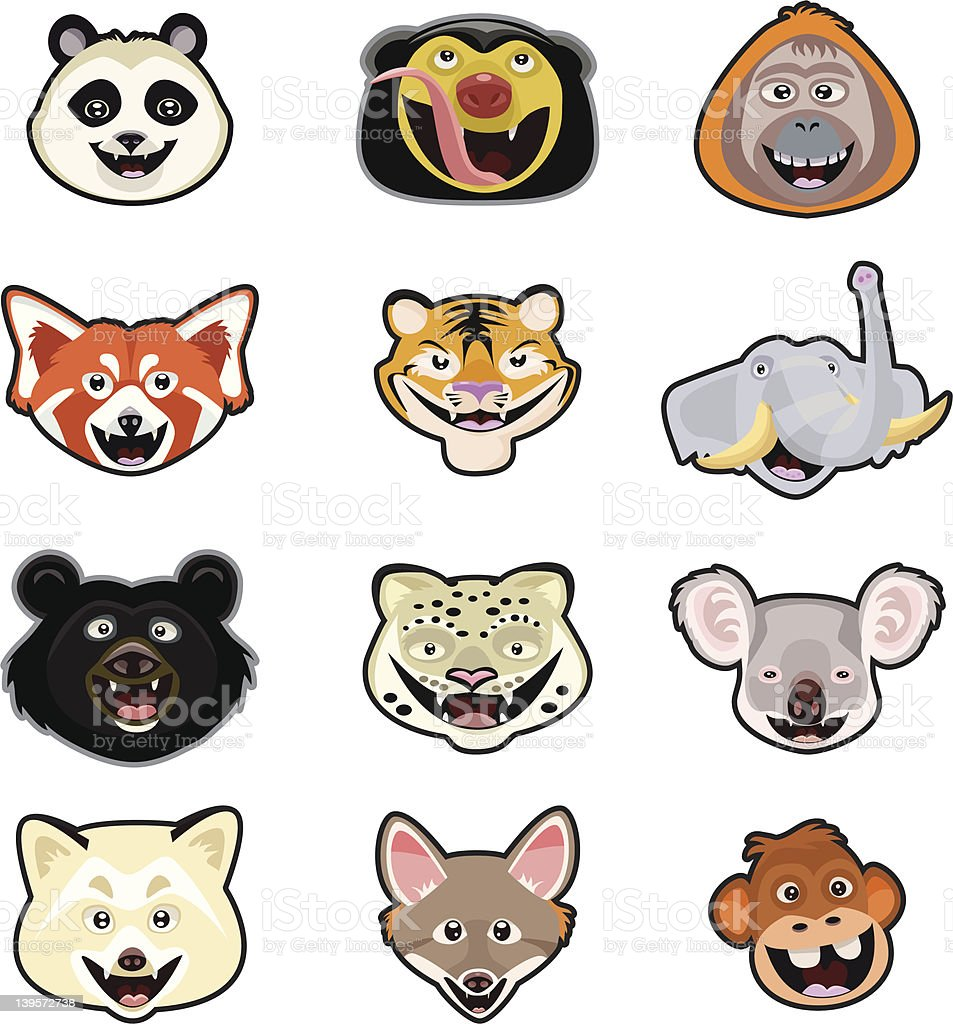 Misc. Animal Head Page royalty-free stock vector art
