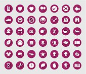 miscellaneous flat  icon set for web and mobile #04