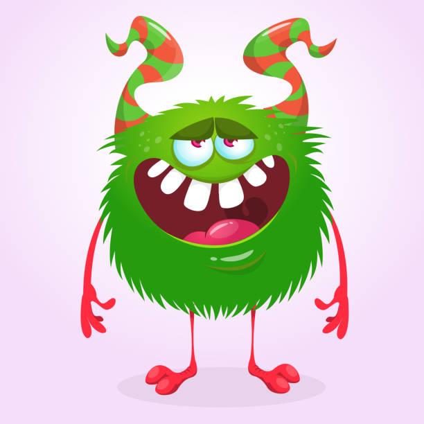Schelmischen Zeichentrickfigur Monster. Lager-Vektor-illustration – Vektorgrafik