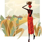 Woman silhouette and background are grouped and layered separately. JPG file in a high resolution also available.