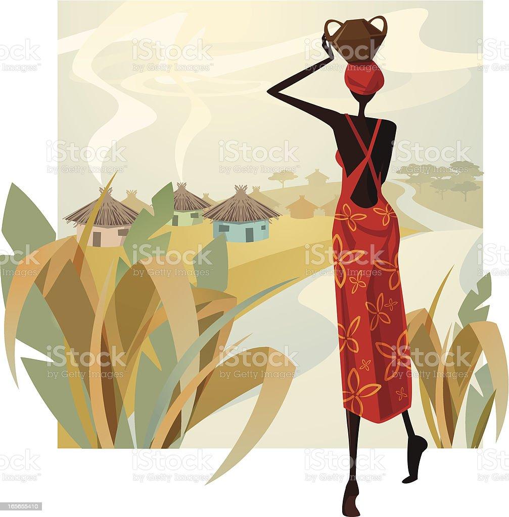 Miss África - ilustração de arte em vetor