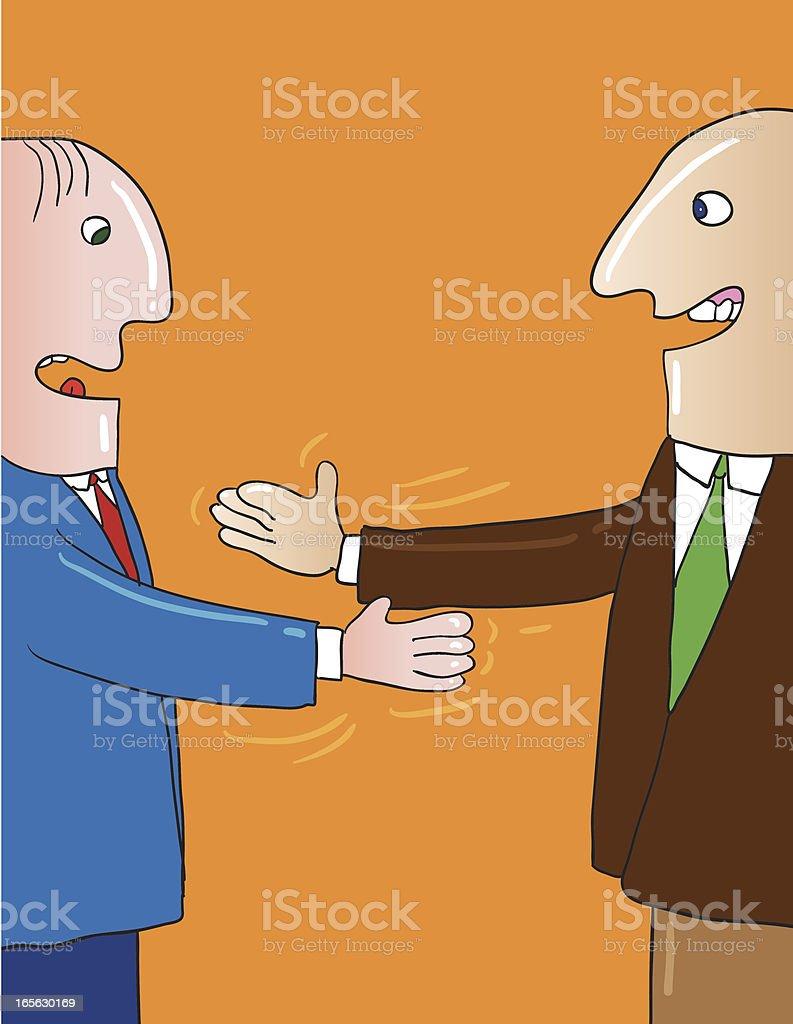 Missed handshake royalty-free stock vector art