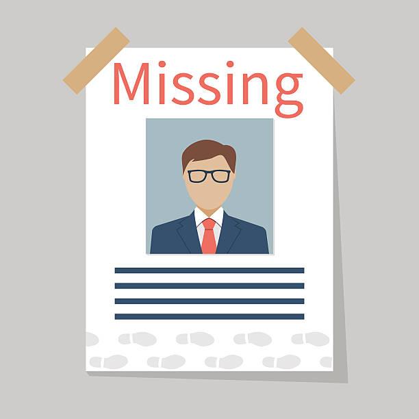stockillustraties, clipart, cartoons en iconen met missing announce. vector - absentie