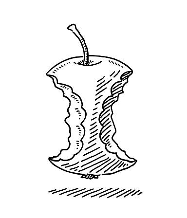 Missing Bite Apple Symbol Drawing