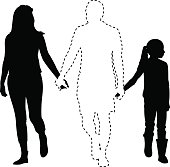 Missing Father Silhouette