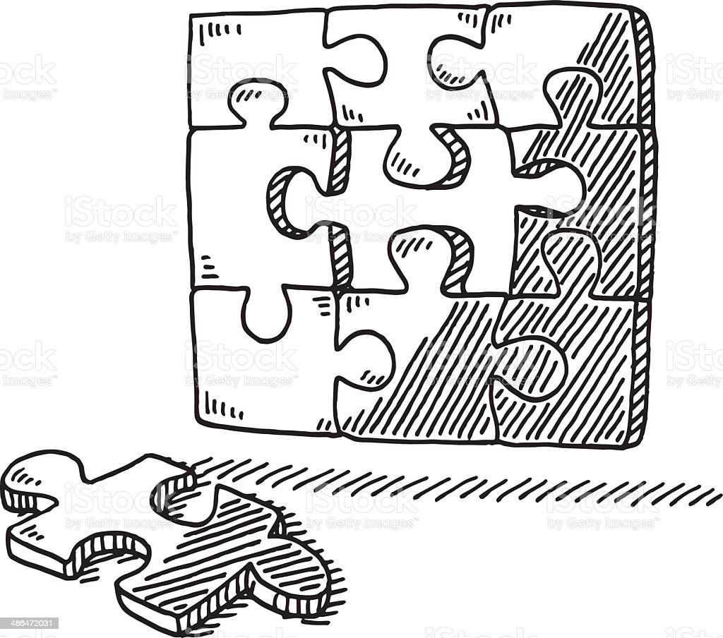 Puzzle Piece Drawings - www.hooperswar.com - Exaple Resume And Cover ...