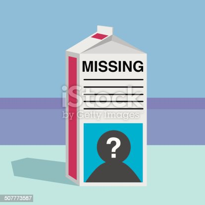istock Missing Person Milk Carton 507773587