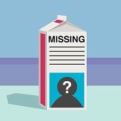 Missing Person Milk Carton