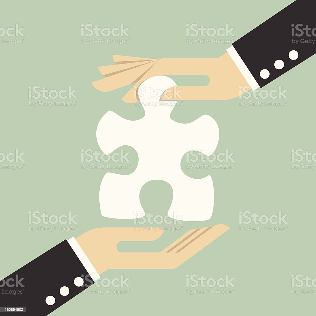 Missing piece royalty-free stock vector art