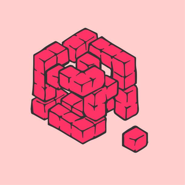 Missing Piece vector art illustration