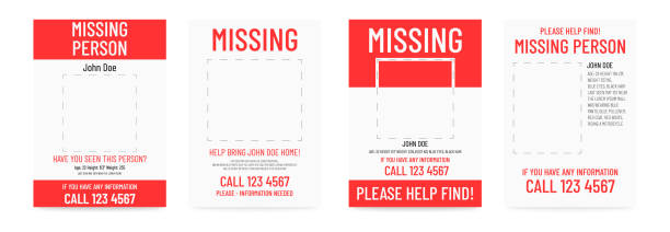 missing poster template. person lost banner design. - lost stock illustrations