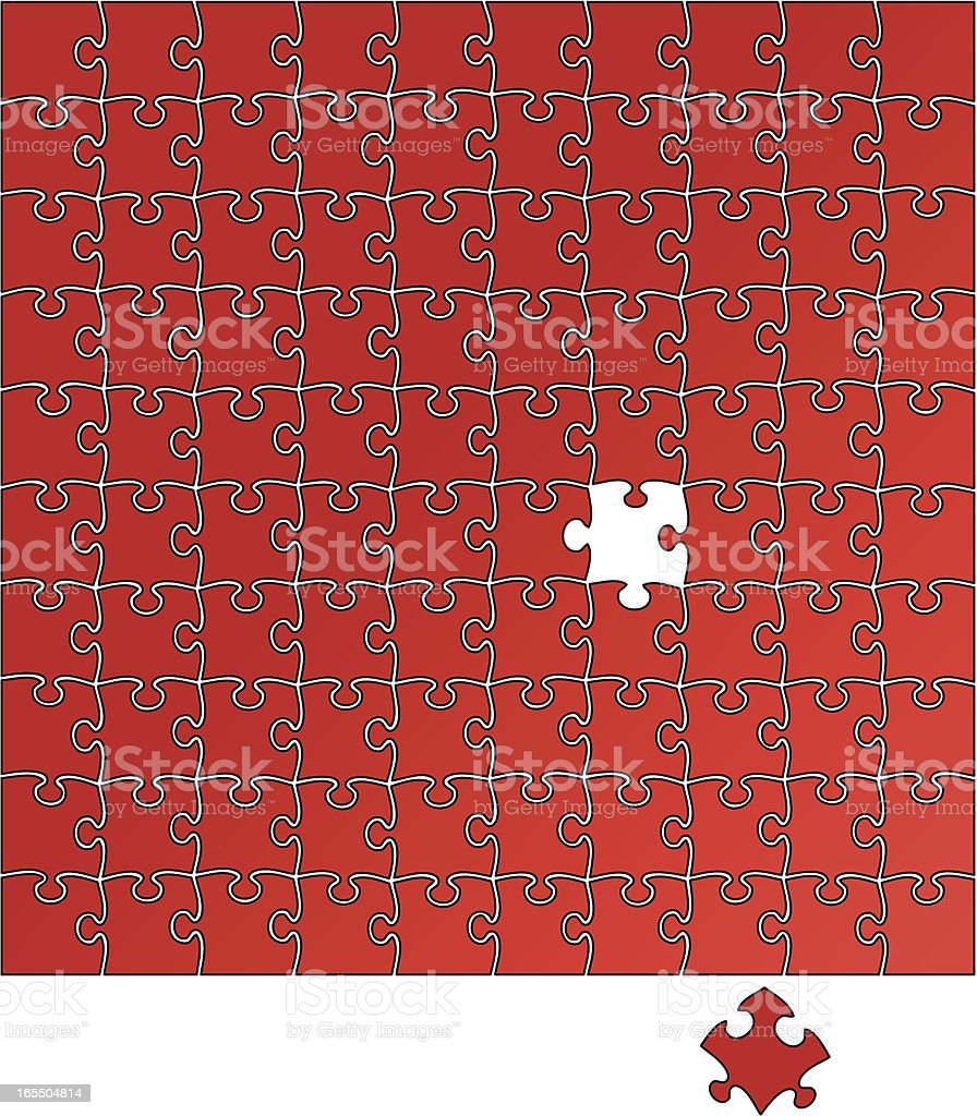 Missing puzzle piece royalty-free stock vector art