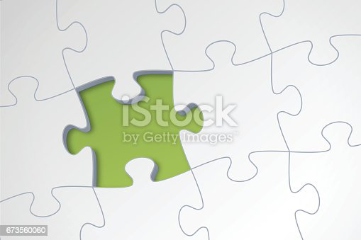 Missing puzzle piece concept illustration.