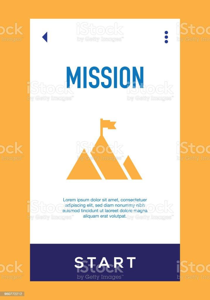 Mission Icon vector art illustration