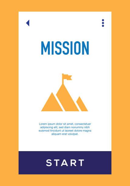 ilustraciones, imágenes clip art, dibujos animados e iconos de stock de icono de misión - misión