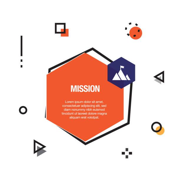 Mission Infographic Icon Mission Infographic Icon mission church stock illustrations
