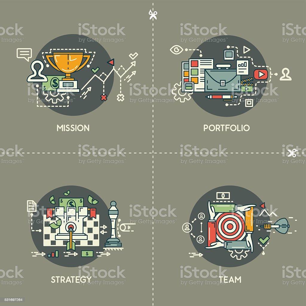 521b9955b2 Vetor de Missão Portfólio Estratégia Equipe e mais banco de imagens ...