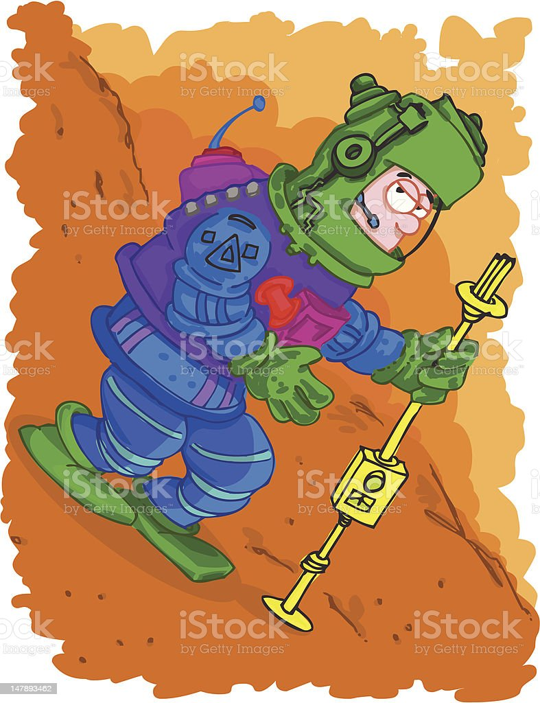 Mission to Mars... royalty-free stock vector art