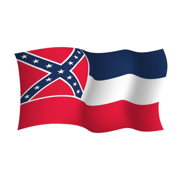 ilustrações, clipart, desenhos animados e ícones de bandeira do vetor de mississipi. ilustração do vetor. estados unidos da américa - bandeira union jack