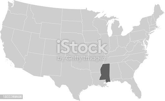 istock Mississippi map 1322289506