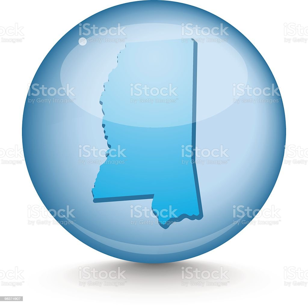 Mississippi - Sphere State Series royalty-free mississippi sphere state series stock vector art & more images of blue