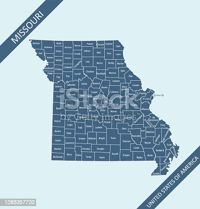 istock Missouri counties map 1283357720