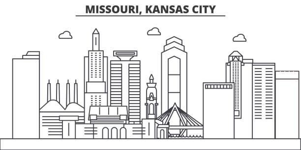 Line Art Ks : Royalty free kansas city clip art vector images