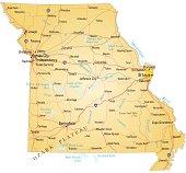 Missouri map design with white background