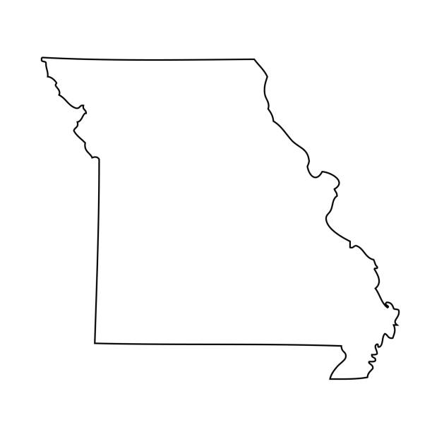 missouri - map of us state - missouri stock illustrations