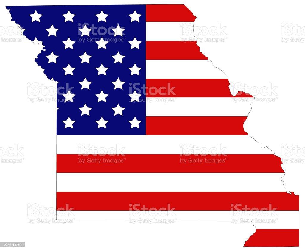 Missouri map vector art illustration