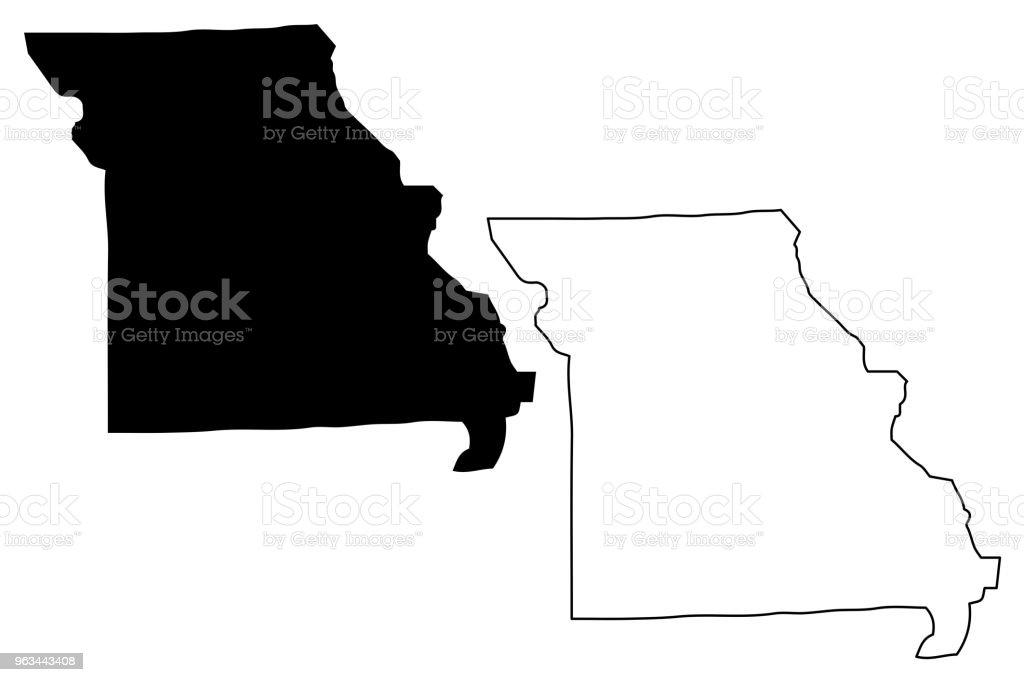 Missouri map vector - Grafika wektorowa royalty-free (Abstrakcja)