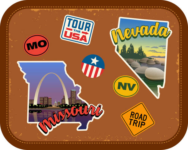 68f2a7d248f7 Best Travel Sticker Illustrations, Royalty-Free Vector Graphics ...