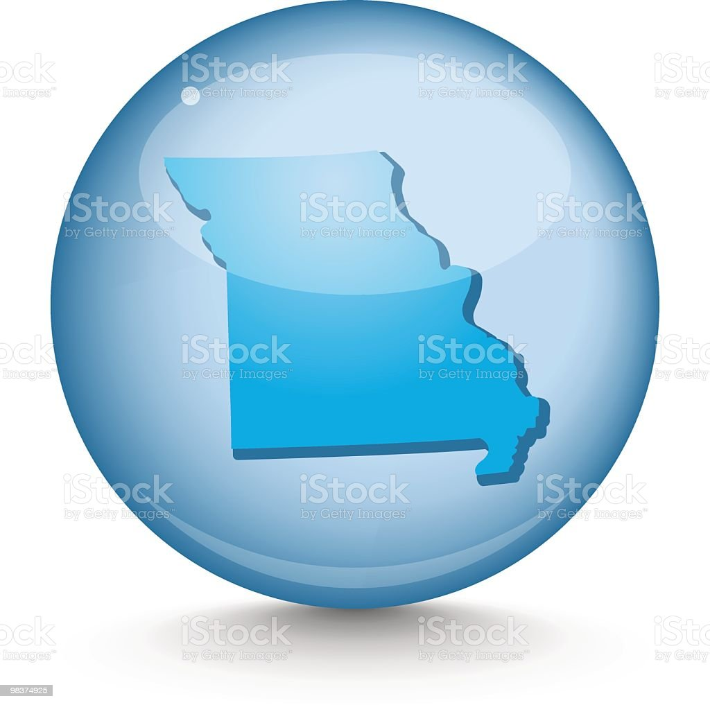 Missouri - Sphere State Series royalty-free missouri sphere state series stock vector art & more images of blue