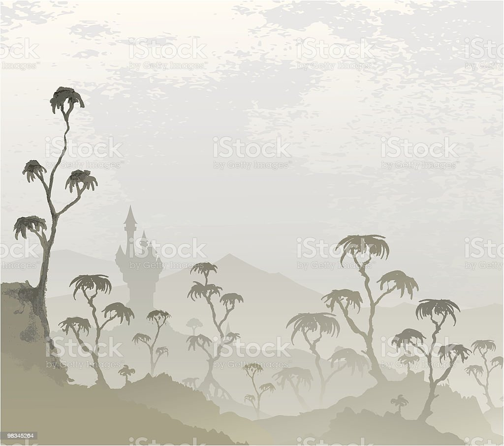 Misty Landscape royalty-free misty landscape stock vector art & more images of animals in the wild
