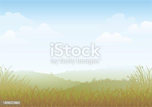 istock Misty Morning Vector 165602665